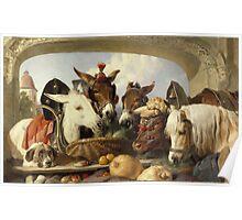 Edwin Landseer - A Group Of Animals, Geneva 1851.  Landseer  Poster