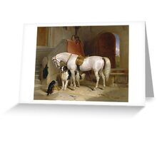 Edwin Landseer - Favourites, The Property Of Prince George Of Cambridge 1834.  Landseer  Greeting Card