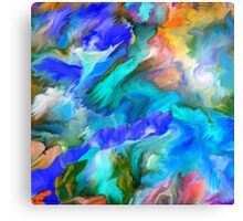 Dancing colors - Abstract 53-  Art + Products Design  Canvas Print
