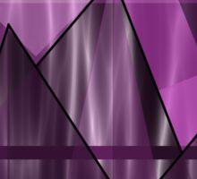 Purple Peaks Sticker