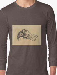 Egon Schiele -  Girl.  Schiele - woman portrait. Long Sleeve T-Shirt