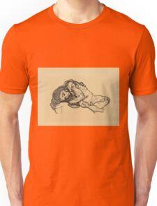 Egon Schiele -  Girl.  Schiele - woman portrait. Unisex T-Shirt