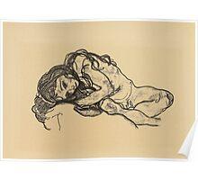 Egon Schiele -  Girl.  Schiele - woman portrait. Poster