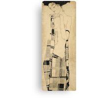 Egon Schiele - Standing Girl. Schiele - woman portrait. Canvas Print