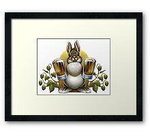 Bunny Hops Beer Framed Print