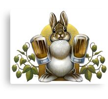 Bunny Hops Beer Canvas Print