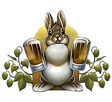 Bunny Hops Beer Photographic Print