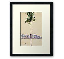 Egon Schiele - Little Tree. Schiele - forest view. Framed Print