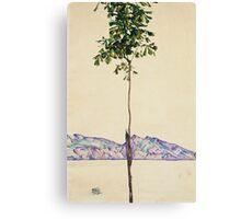 Egon Schiele - Little Tree. Schiele - forest view. Canvas Print