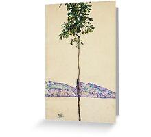 Egon Schiele - Little Tree. Schiele - forest view. Greeting Card