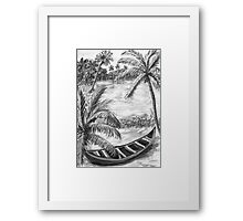 Backwaters of Kerala - Dad for you 4 Framed Print