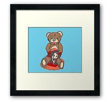 Satanic Teddy - Bad Toy Framed Print