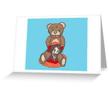 Satanic Teddy - Bad Toy Greeting Card