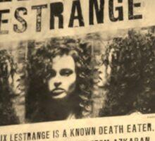 Wanted - Bellatrix Lestrange Sticker