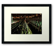 Bostons Fenway Park Baseball Vintage Seats Framed Print