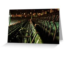 Bostons Fenway Park Baseball Vintage Seats Greeting Card