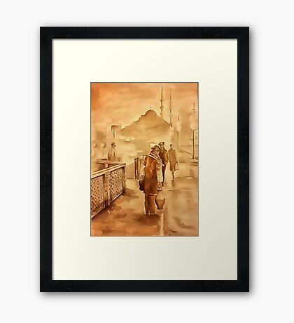 Yogurt Delivery In Istanbul Framed Print