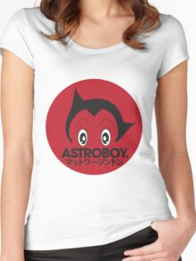 Japanese style astroboy T-shirt Women's Fitted Scoop T-Shirt