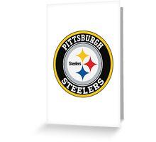 Pittsburgh Steelers logo Greeting Card