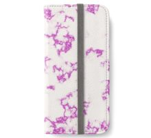 White Marble with Glittery Veins iPhone Wallet/Case/Skin