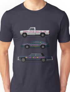 US Road Trip Cars Unisex T-Shirt
