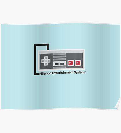 8-Bit NES Controller Poster Poster