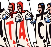 SANTA CRUZ SKATEBOARDS PLAYING CARDS RETRO Sticker