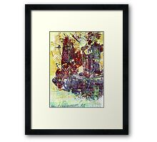 Silent Sailing Abstract by Laura L. Leatherwood Framed Print