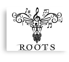 Roots Musical T-shirt Canvas Print
