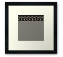 Pixelated space invaders ugly sweater Framed Print
