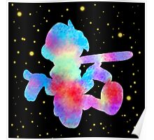 colorful pinocchio in space Poster