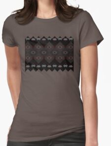 Knitted space invaders ugly sweater Womens Fitted T-Shirt