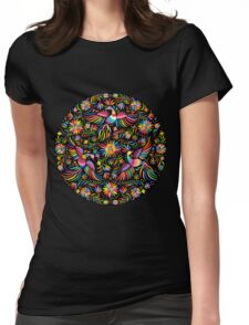 Mexican black pattern Womens Fitted T-Shirt