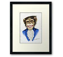 chimp the pimp Framed Print