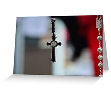 Rosary Crucifix Greeting Card