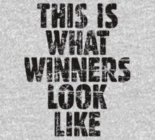 This is what winners look like (Vintage Black) One Piece - Short Sleeve