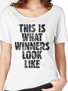 This is what winners look like (Vintage Black) Women's Relaxed Fit T-Shirt