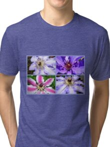 Clematis Collage Tri-blend T-Shirt