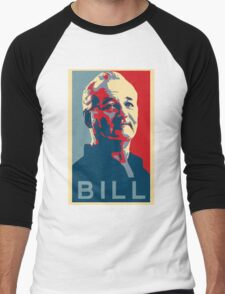 Bill Murray, Obama Hope Poster Men's Baseball ¾ T-Shirt