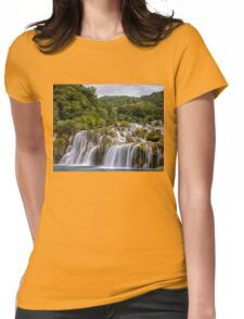 The waterfalls of Krka Womens Fitted T-Shirt