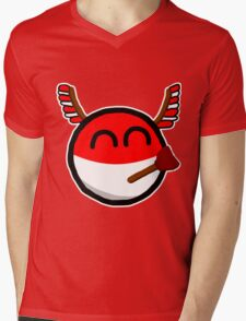 Polandball Mens V-Neck T-Shirt