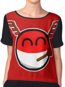 Polandball Chiffon Top
