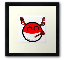 Polandball Framed Print