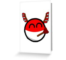 Polandball Greeting Card