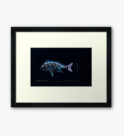Natural History Fish Histoire naturelle des poissons Georges V1 V2 Cuvier 1849 130 Inverted Framed Print