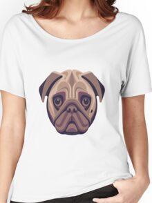 pug art Women's Relaxed Fit T-Shirt