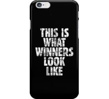 This is what winners look like (Vintage White) iPhone Case/Skin
