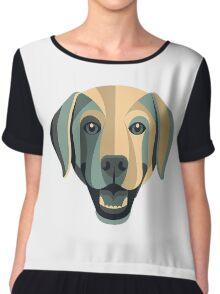 the dog art Chiffon Top