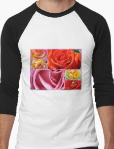 Love Roses Men's Baseball ¾ T-Shirt