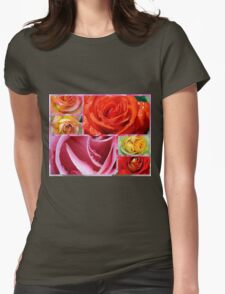 Love Roses Womens Fitted T-Shirt